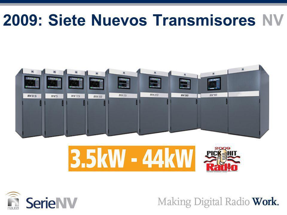 2009: Siete Nuevos Transmisores NV