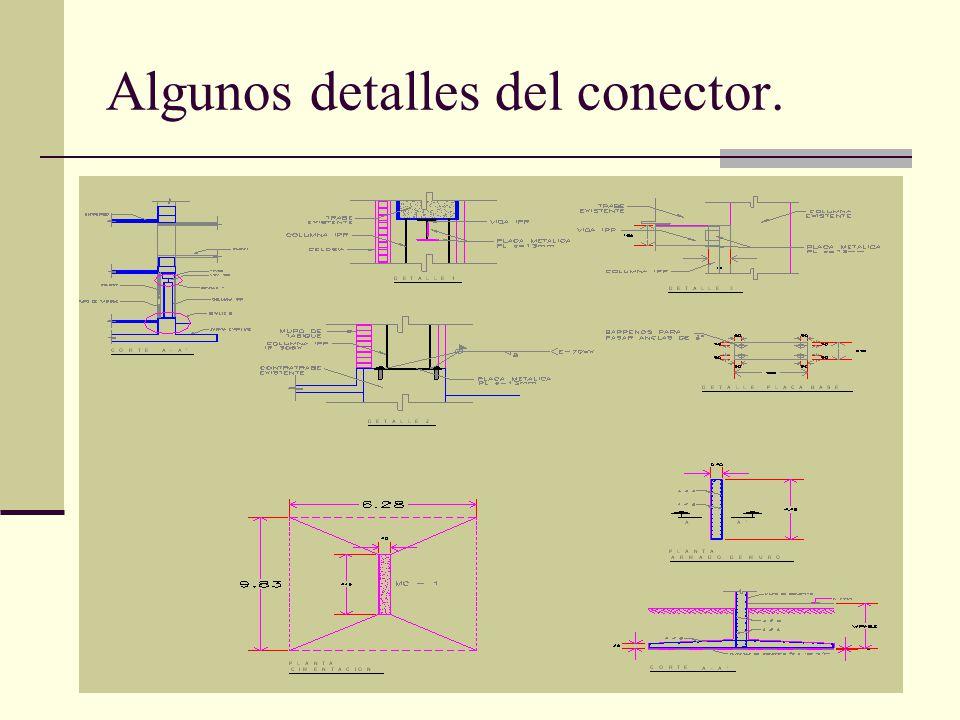 Arq. José Ma. Cruz García 11 Algunos detalles del conector.
