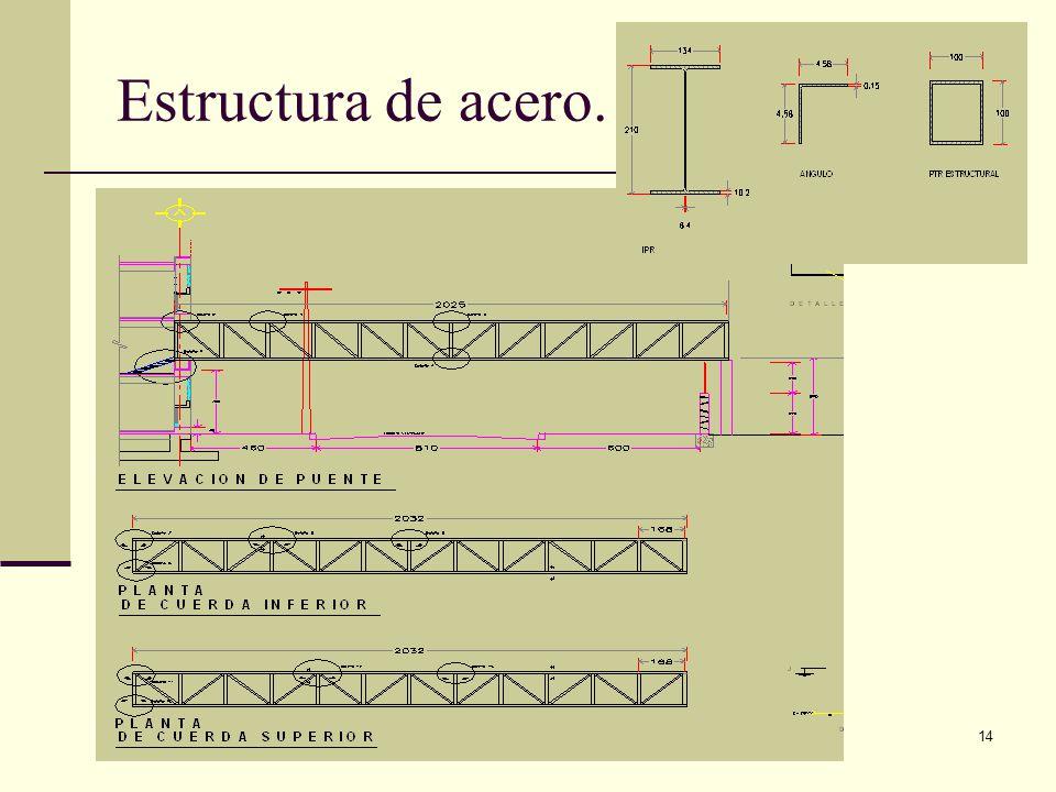 Arq. José Ma. Cruz García 14 Estructura de acero.