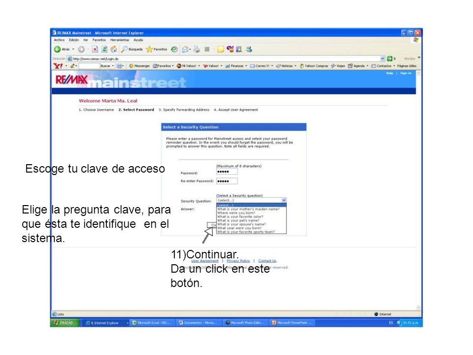Proporciona tu correo, éste recibirá todos los que te envíen a tu correo RE/MAX 12)Continuar.