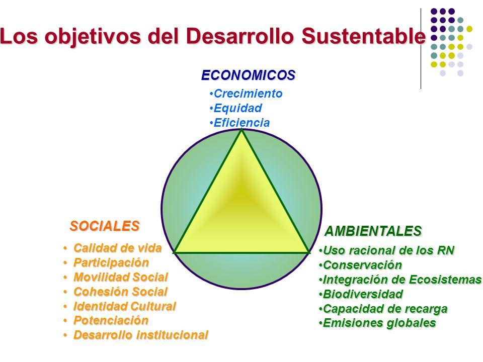 AMBIENTALES Uso racional de los RNUso racional de los RN ConservaciónConservación Integración de EcosistemasIntegración de Ecosistemas BiodiversidadBi
