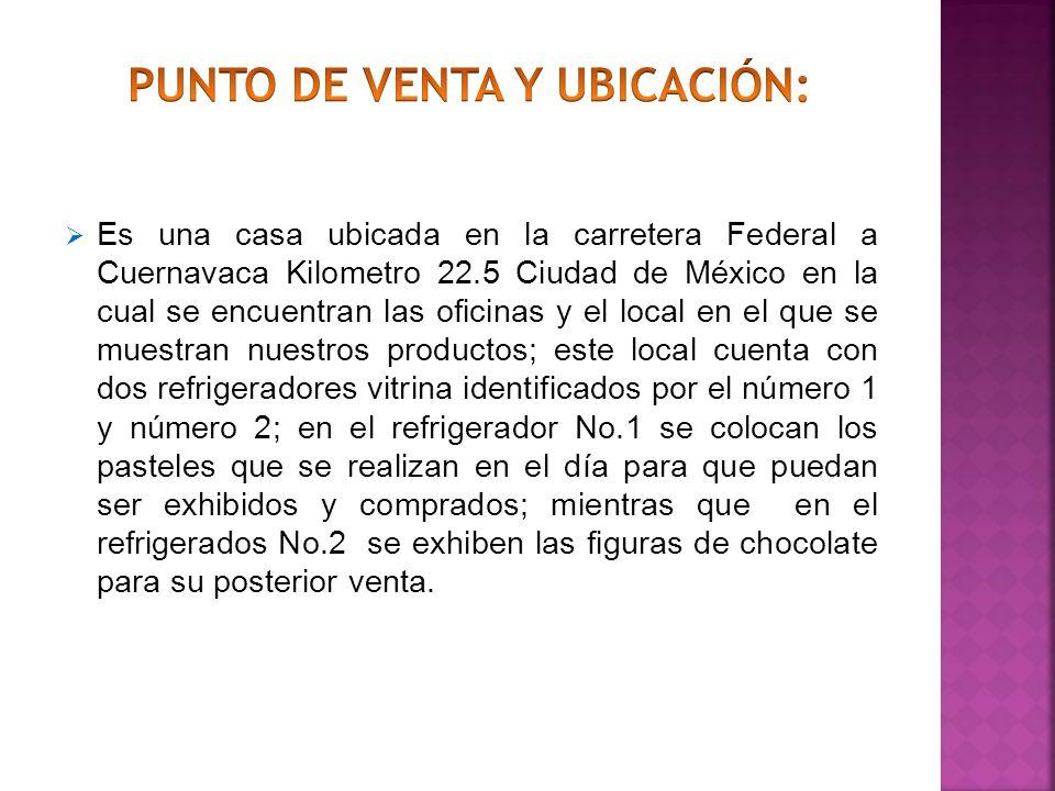 Es una casa ubicada en la carretera Federal a Cuernavaca Kilometro 22.5 Ciudad de México en la cual se encuentran las oficinas y el local en el que se