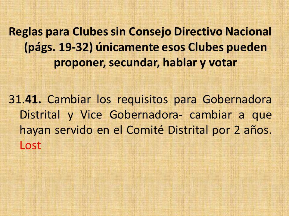 Reglas para Clubes sin Consejo Directivo Nacional (págs.