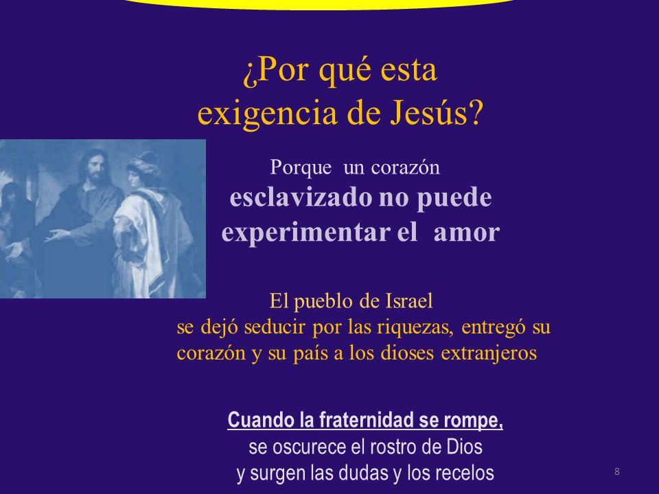 ¿Por qué esta exigencia de Jesús.