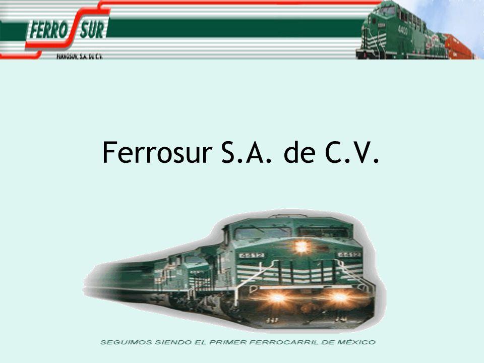 Historia 1998 La SCT otorgo a Ferrocarriles del Sureste, S.A.