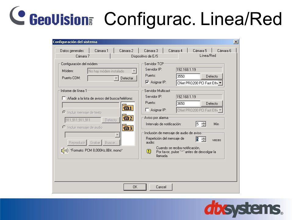 Configurac. Linea/Red