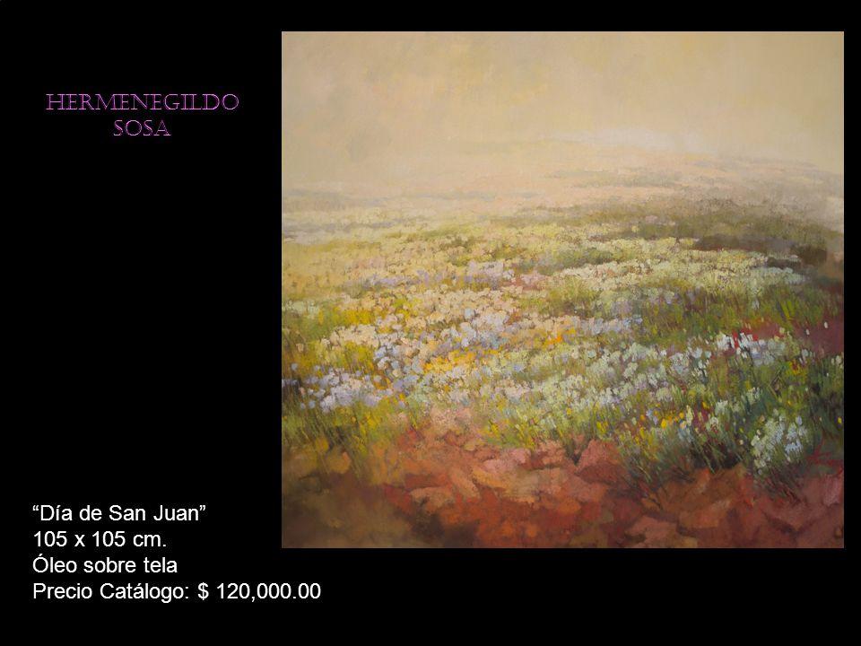 Hermenegildo sosa Día de San Juan 105 x 105 cm. Óleo sobre tela Precio Catálogo: $ 120,000.00