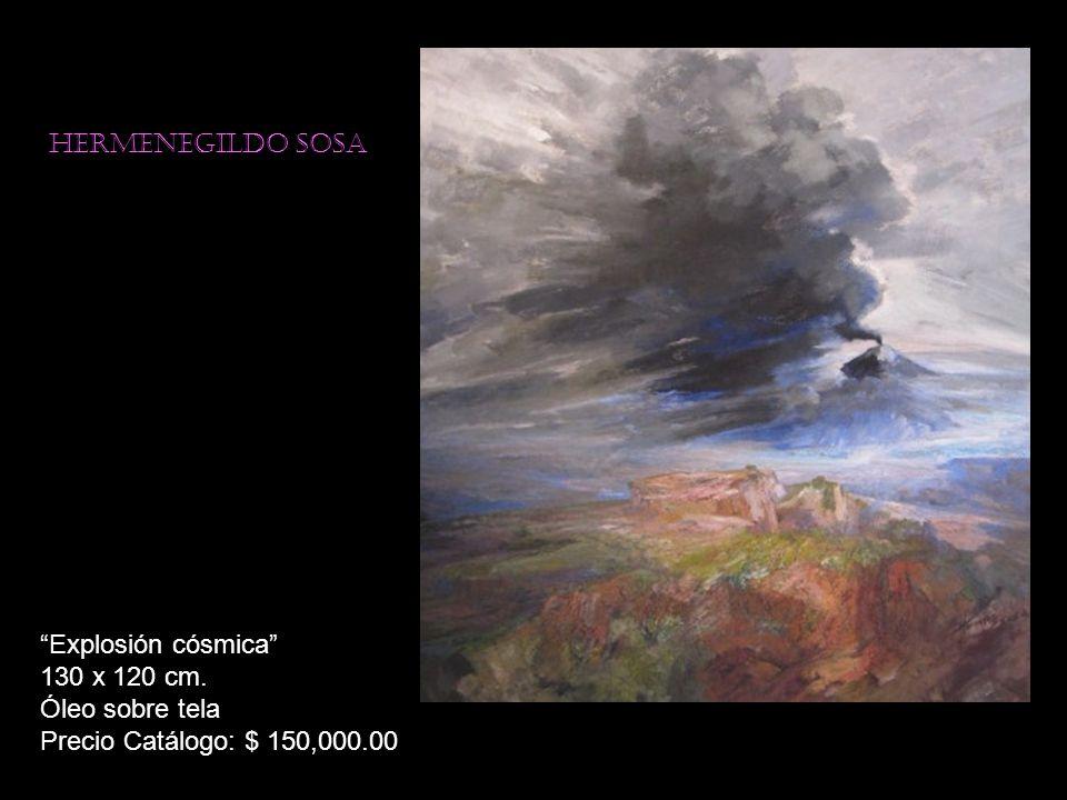 Hermenegildo sosa Vigilante de luz 150 x 130 cm. Óleo sobre tela Precio Catálogo: $ 200,000.00