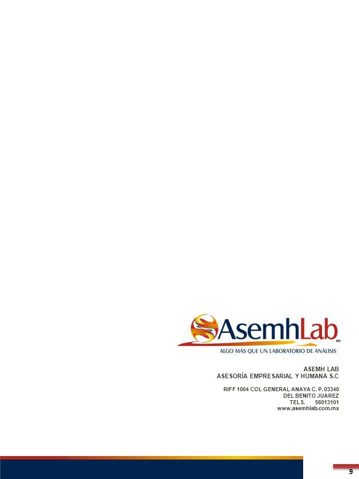 ASEMH LAB ASESORÍA EMPRESARIAL Y HUMANA S.C RIFF 1004 COL GENERAL ANAYA C.