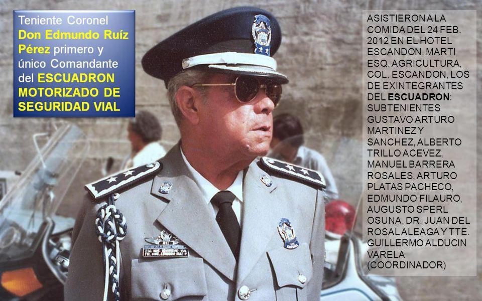 Creado por la Dirección General de Policía y Tránsito del D.F. dependiente del Departamento del Distrito Federal en el año de 1977, el ESCUADRÓN MOTOR