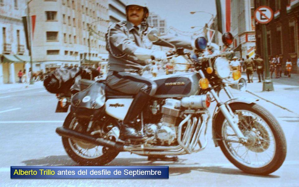 Alberto Trillo antes del desfile de Septiembre