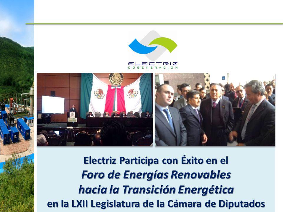 Electriz Participa con Éxito en el Foro de Energías Renovables hacia la Transición Energética en la LXII Legislatura de la Cámara de Diputados