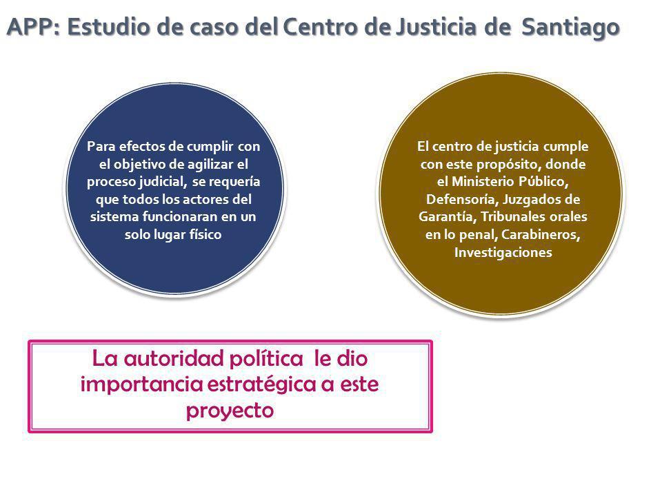 El centro de justicia cumple con este propósito, donde el Ministerio Público, Defensoría, Juzgados de Garantía, Tribunales orales en lo penal, Carabin