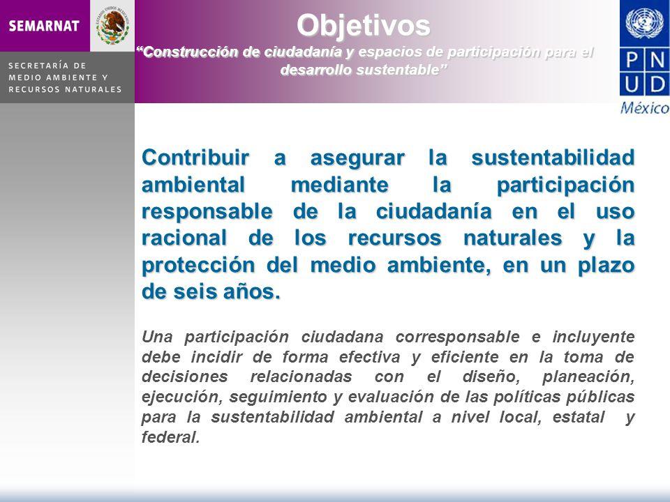 Contribuir a asegurar la sustentabilidad ambiental mediante la participación responsable de la ciudadanía en el uso racional de los recursos naturales