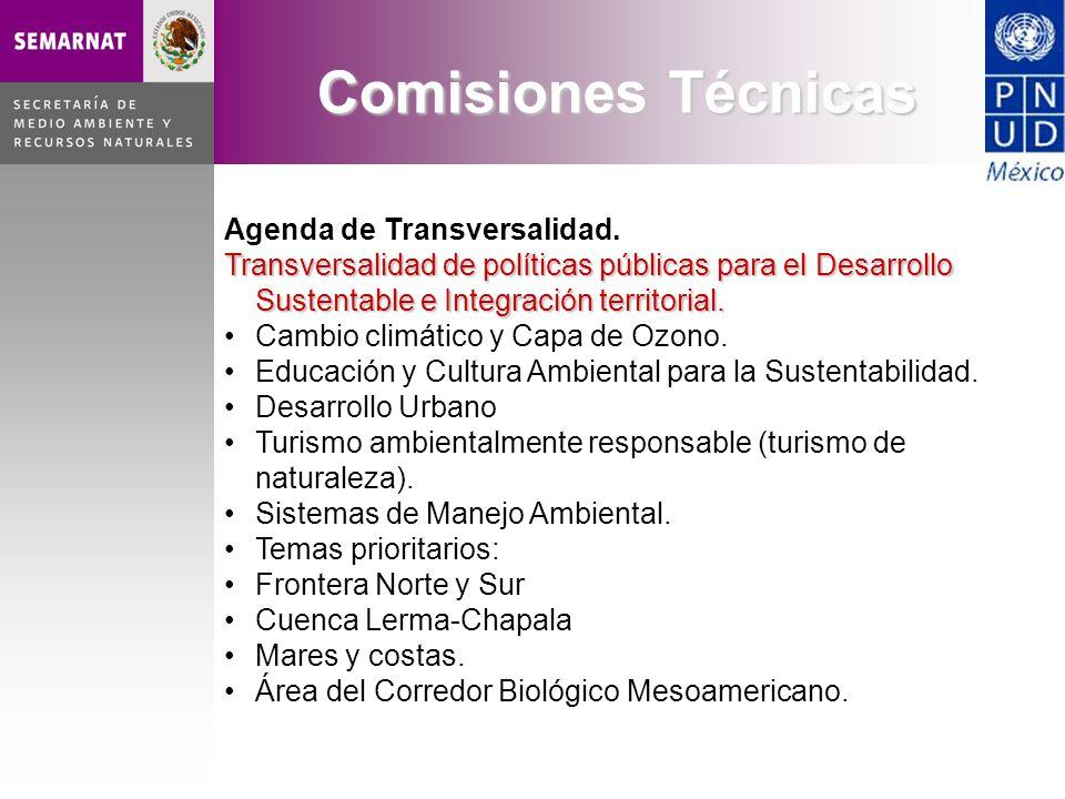 Agenda de Transversalidad. Transversalidad de políticas públicas para el Desarrollo Sustentable e Integración territorial. Cambio climático y Capa de