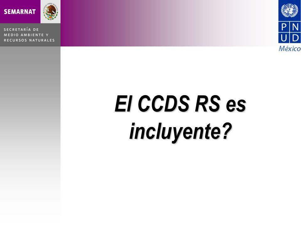 El CCDS RS es incluyente?