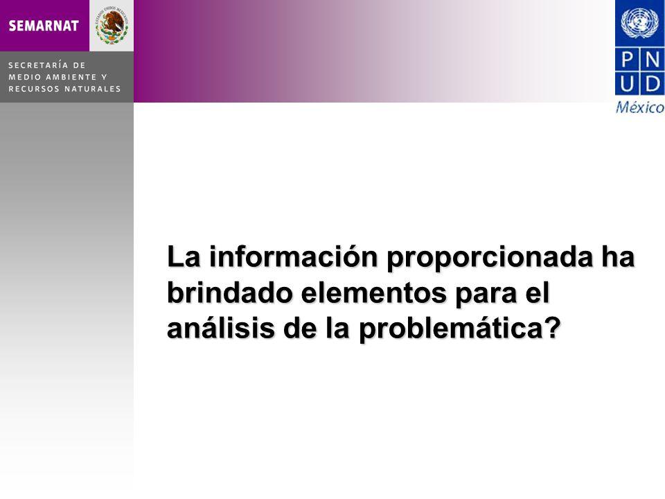 La información proporcionada ha brindado elementos para el análisis de la problemática?