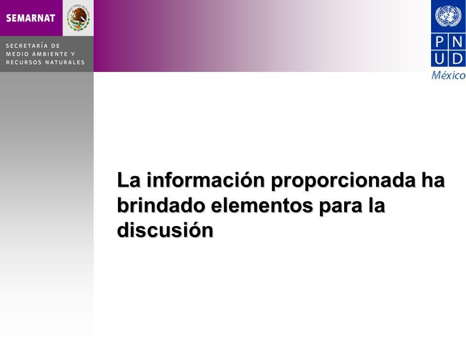 La información proporcionada ha brindado elementos para la discusión