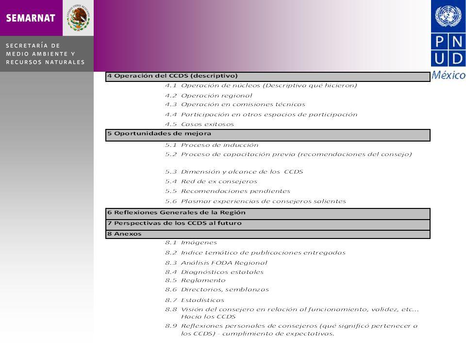 Abril de 2010 Definición de responsables de apartados e Integración del Comité Editorial (Abril de 2010) Entrega del primer borrador de apartados al Comité Editorial ( .