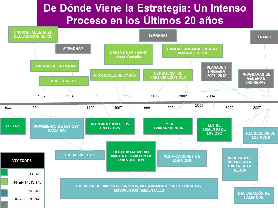 Naturaleza Proceso de creación Objetivo Misión, visión y valores Antecedentes Las estrategias 1988 199219941996 1997 1998 1999 2000 2001 2002 2003 200