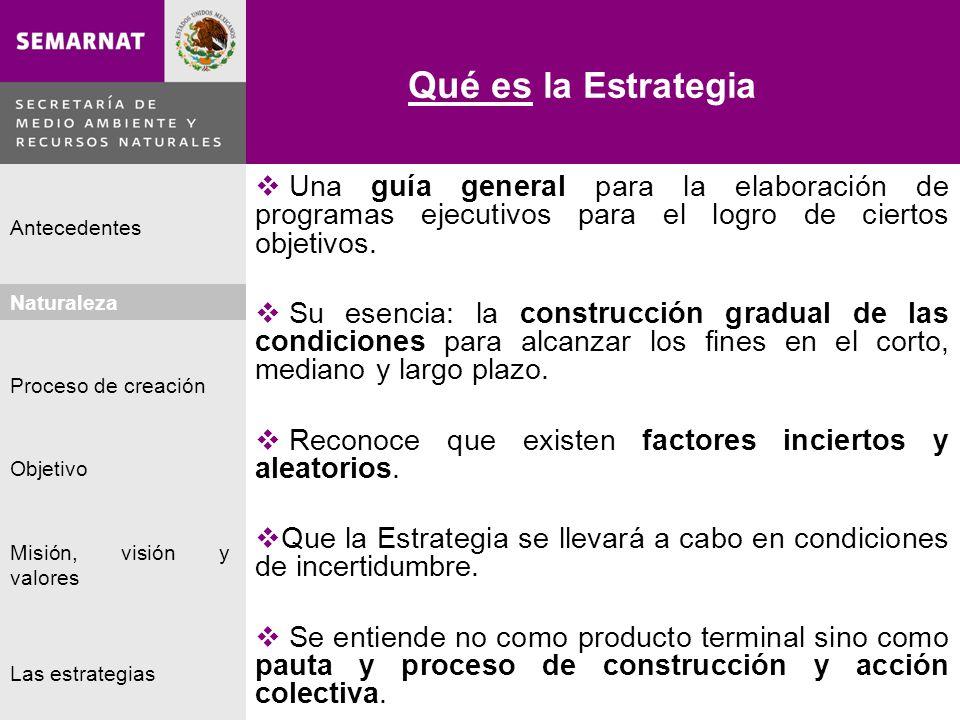 Naturaleza Proceso de creación Objetivo Misión, visión y valores Antecedentes Las estrategias Las Estrategias Lo malo Las estrategias 1.