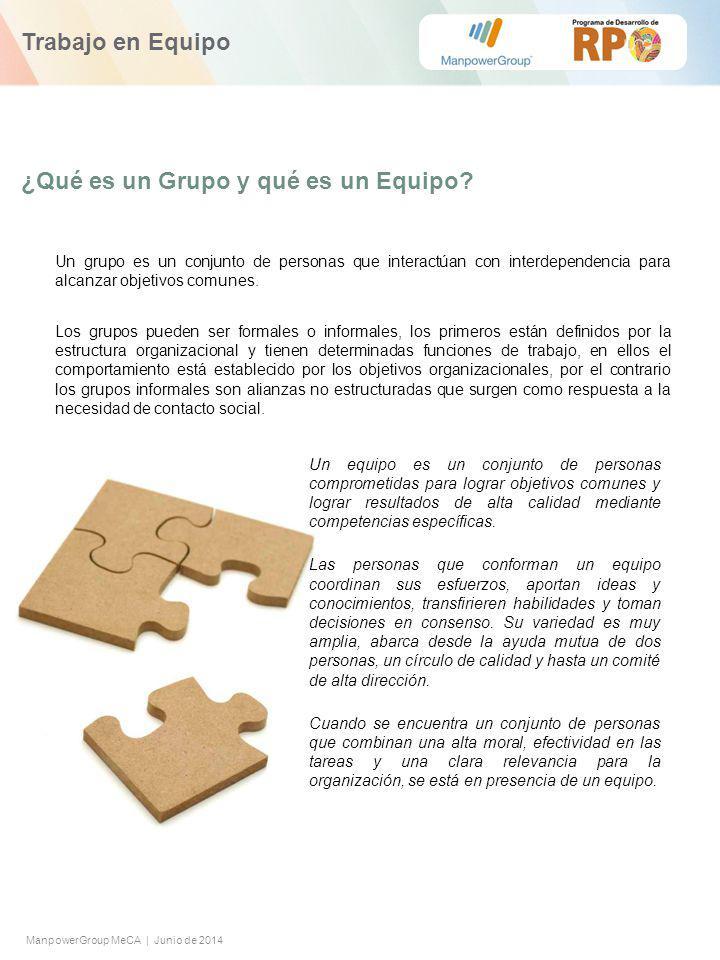 ManpowerGroup MeCA | Junio de 2014 ¿Qué es un Grupo y qué es un Equipo.