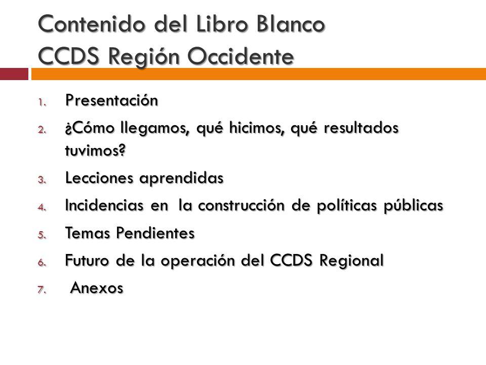 Integrantes del CCDS Región Occidente
