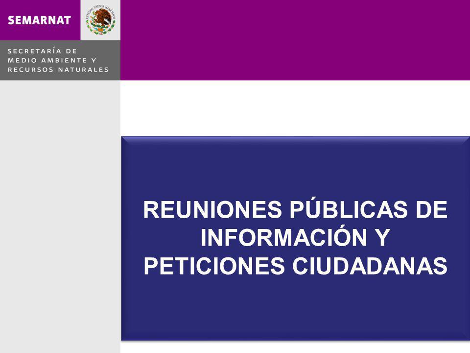 REUNIONES PÚBLICAS DE INFORMACIÓN Y PETICIONES CIUDADANAS REUNIONES PÚBLICAS DE INFORMACIÓN Y PETICIONES CIUDADANAS