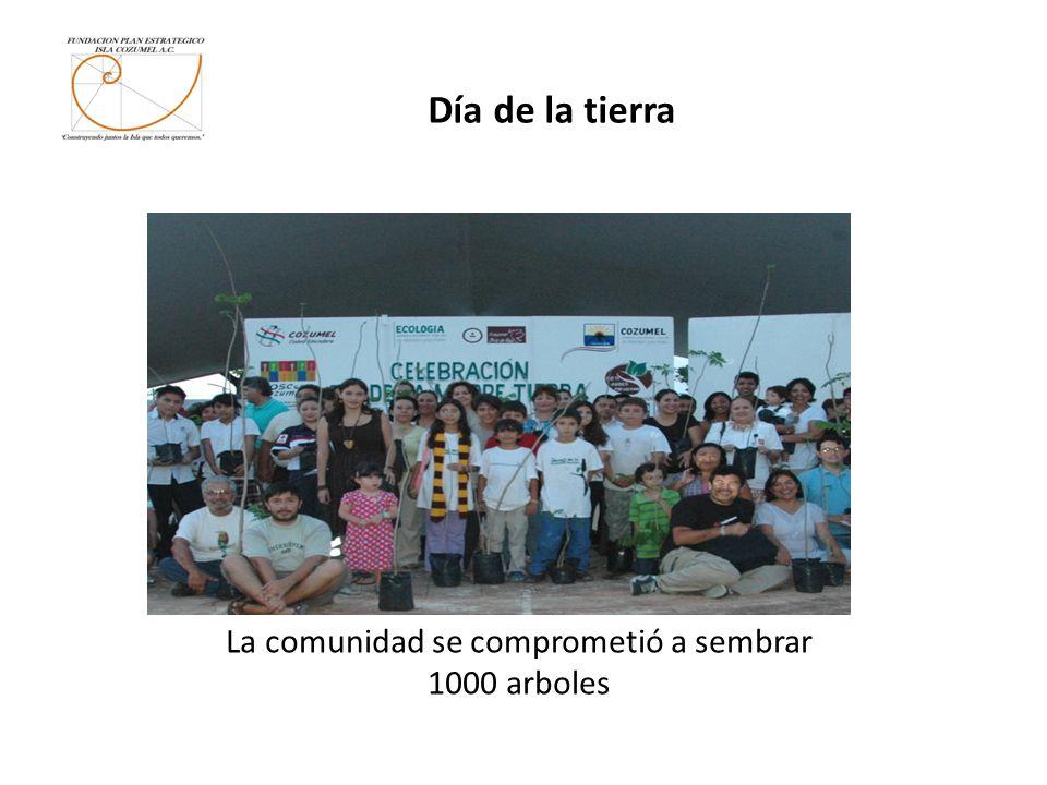 Día de la tierra La comunidad se comprometió a sembrar 1000 arboles