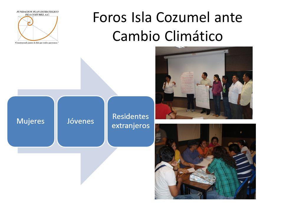 Foros Isla Cozumel ante Cambio Climático MujeresJóvenes Residentes extranjeros