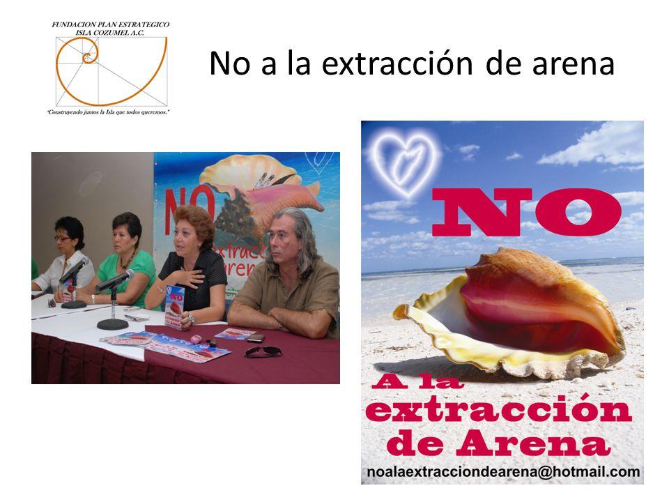 No a la extracción de arena