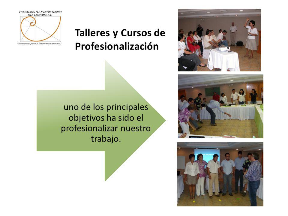 Talleres y Cursos de Profesionalización uno de los principales objetivos ha sido el profesionalizar nuestro trabajo.