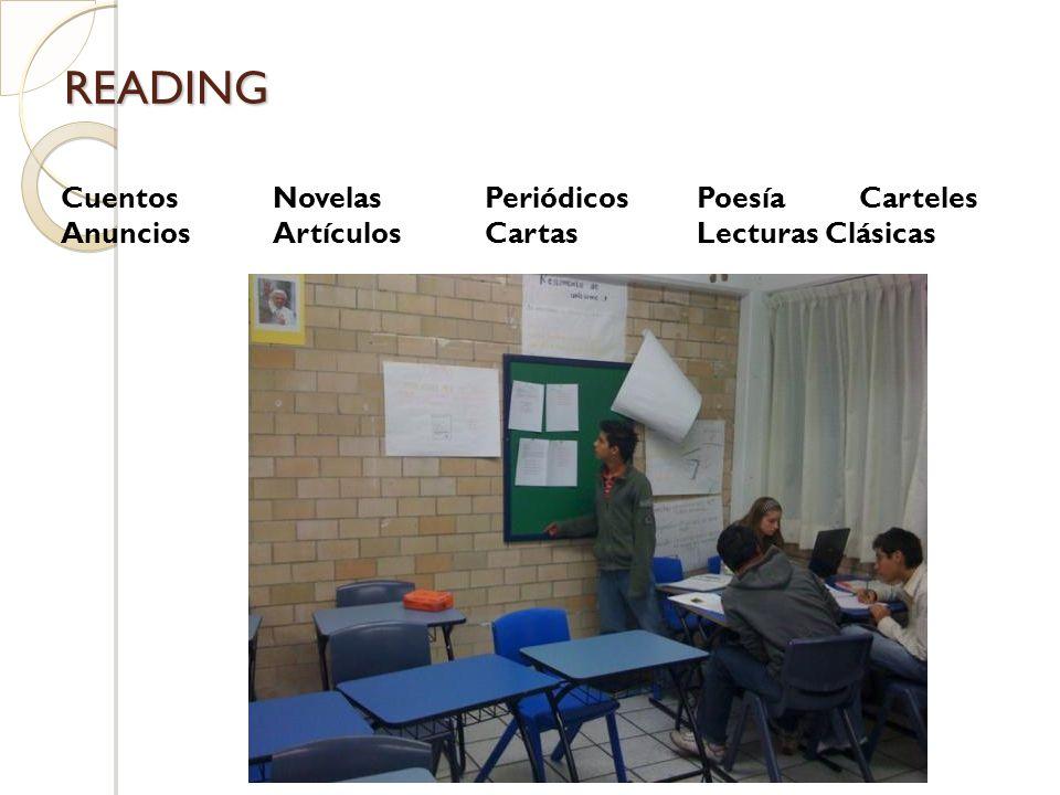CuentosNovelasPeriódicosPoesía Carteles AnunciosArtículosCartasLecturas Clásicas READING