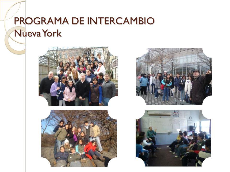 PROGRAMA DE INTERCAMBIO Nueva York