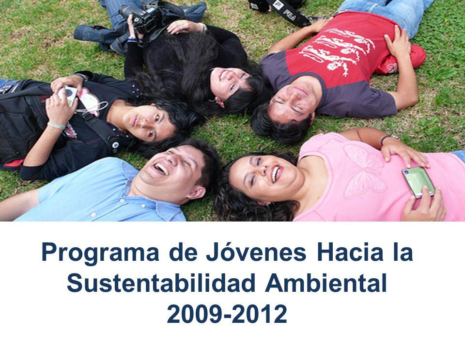 Población meta: 12 a 29 años de edad.Acción conjunta Semarnat-CCDS.
