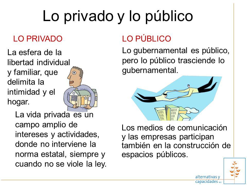 2 Los medios de comunicación y las empresas participan también en la construcción de espacios públicos. La vida privada es un campo amplio de interese