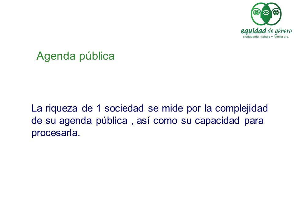 Políticas Públicas desde 2 ámbitos : Internas: Administración pública.