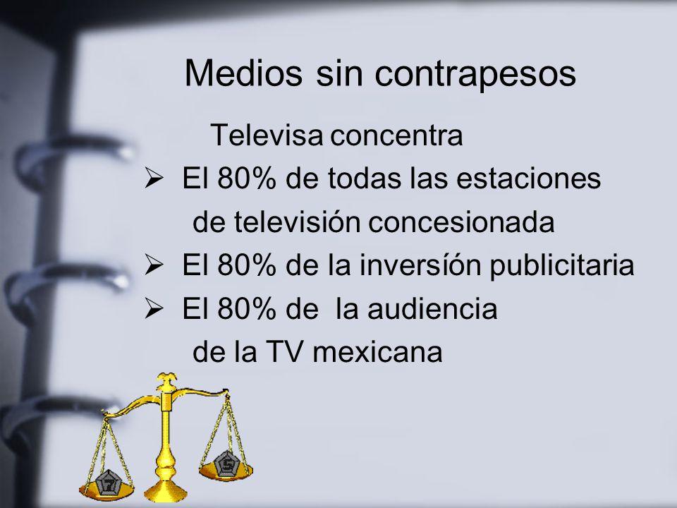 La concentración mediática incrementa el poder de la agenda comunicacional
