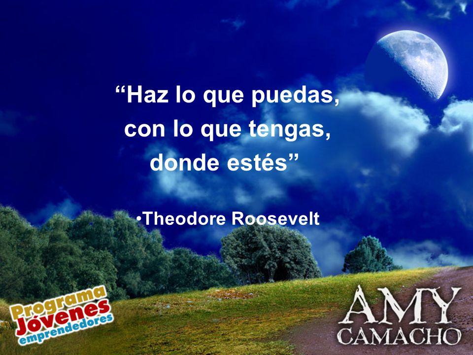 Haz lo que puedas, con lo que tengas, donde estés Theodore Roosevelt