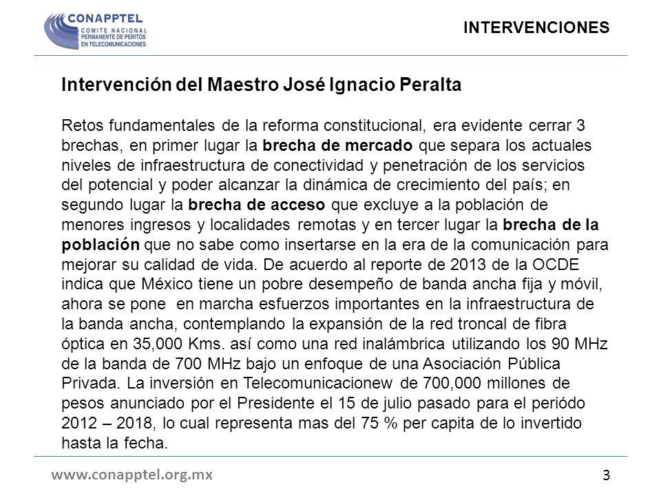 Intervención del Maestro José Ignacio Peralta Retos fundamentales de la reforma constitucional, era evidente cerrar 3 brechas, en primer lugar la brec