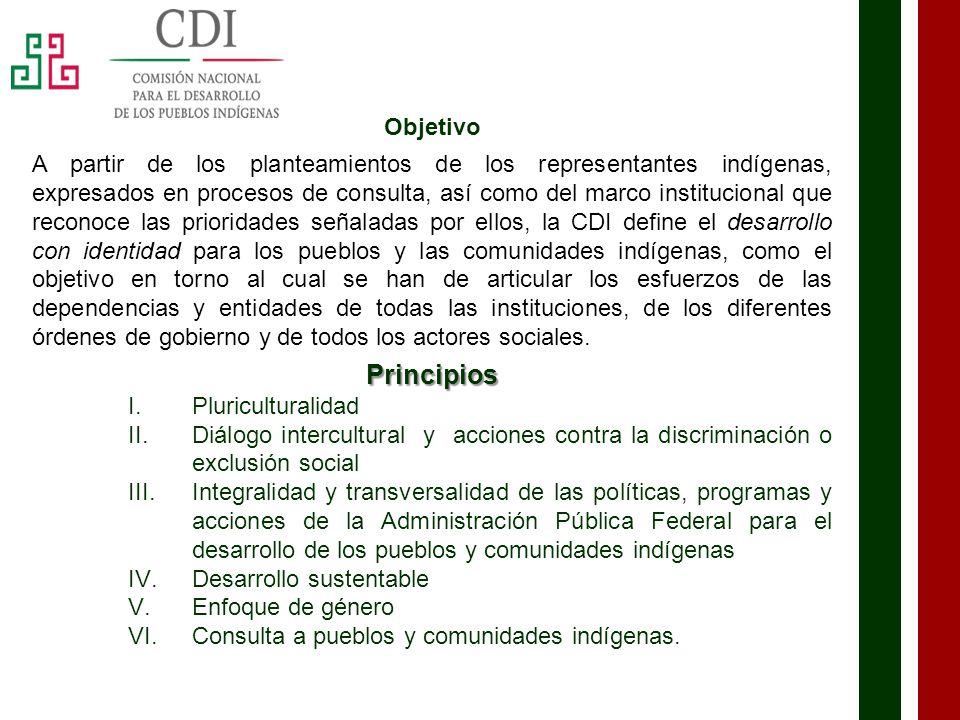 Estructura Orgánica DIRECCIÓN GENERAL Unidad de Planeación y Consulta Unidad de Coordinación y Concertación Coordinación de Administración y Finanzas Coordinación de Fomento al Desarrollo Indígena Coordinación de Delegaciones Dirección General de Asuntos Jurídicos 24 Delegaciones y 110 Centros Coordinadores para el Desarrollo Indígena 20 Radiodifusoras Indígenas y 28 CRID