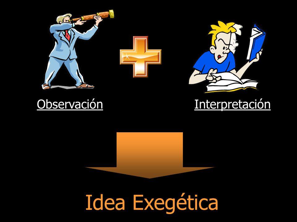 Observación Interpretación Idea Exegética
