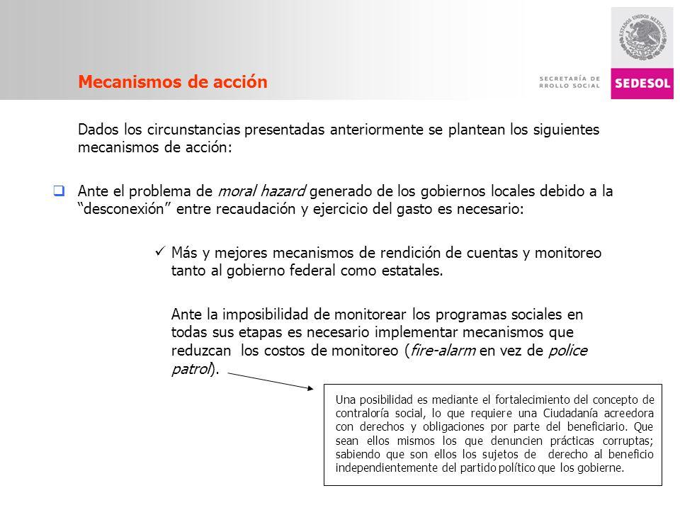 Mecanismos de acción Dados los circunstancias presentadas anteriormente se plantean los siguientes mecanismos de acción: Ante el problema de moral haz