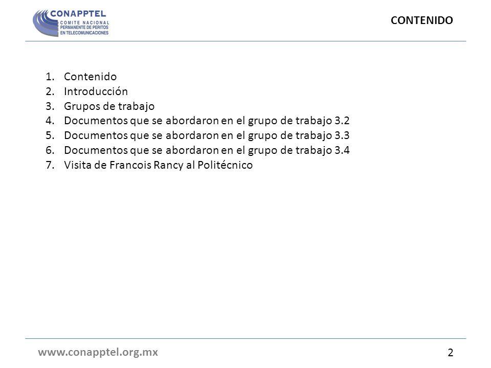 Grupo de trabajo 3.2 cont….