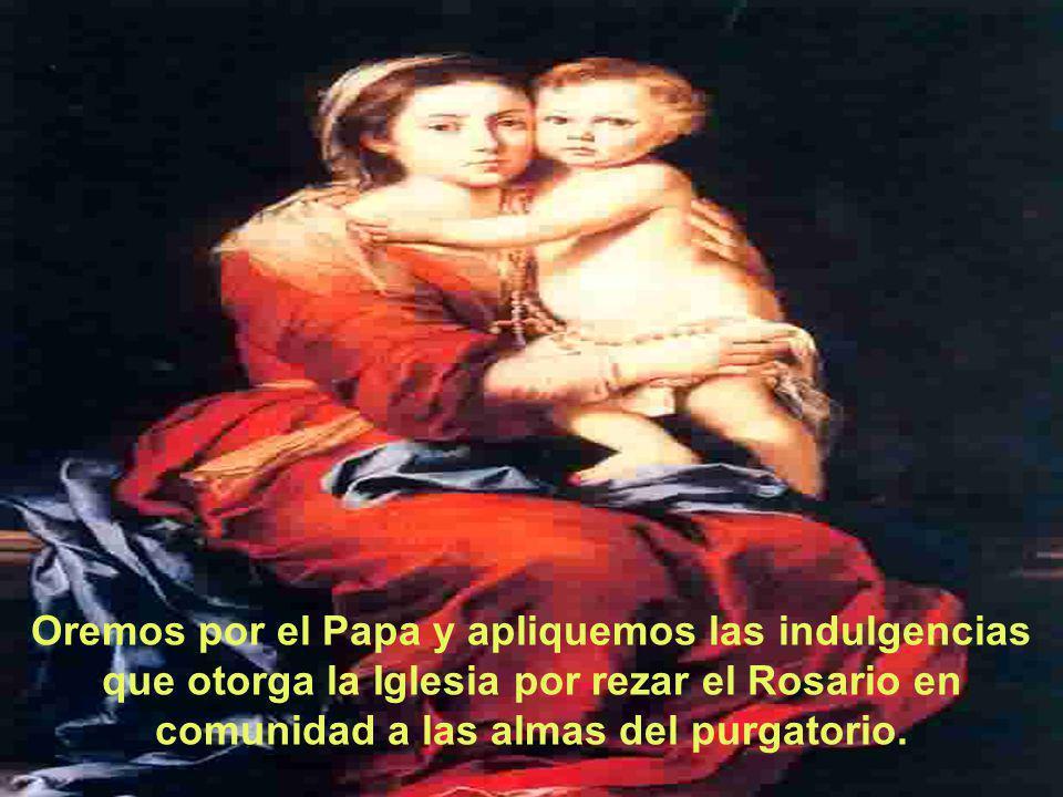 Oremos por el Papa y apliquemos las indulgencias que otorga la Iglesia por rezar el Rosario en comunidad a las almas del purgatorio.