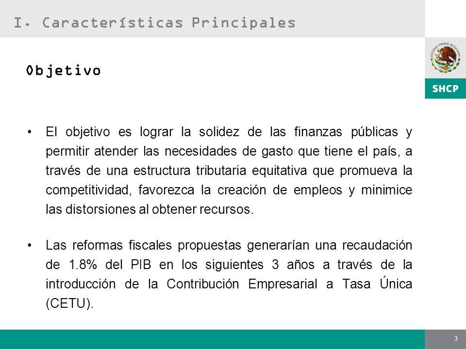 3 El objetivo es lograr la solidez de las finanzas públicas y permitir atender las necesidades de gasto que tiene el país, a través de una estructura