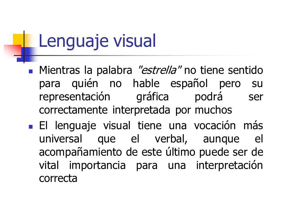 Lenguaje visual Mientras la palabra