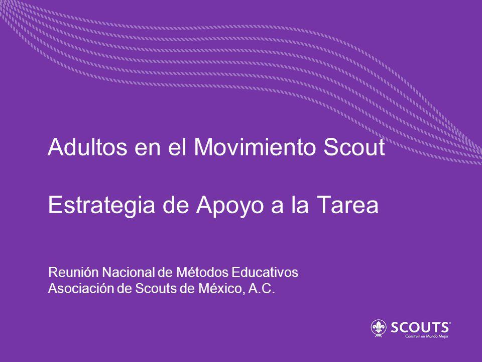 Adultos en el Movimiento Scout Estrategia de Apoyo a la Tarea Reunión Nacional de Métodos Educativos Asociación de Scouts de México, A.C.