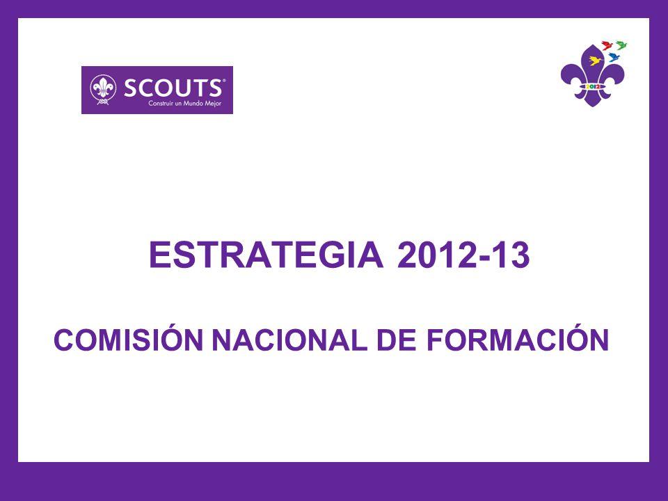 COMISIÓN NACIONAL DE FORMACIÓN ESTRATEGIA 2012-13
