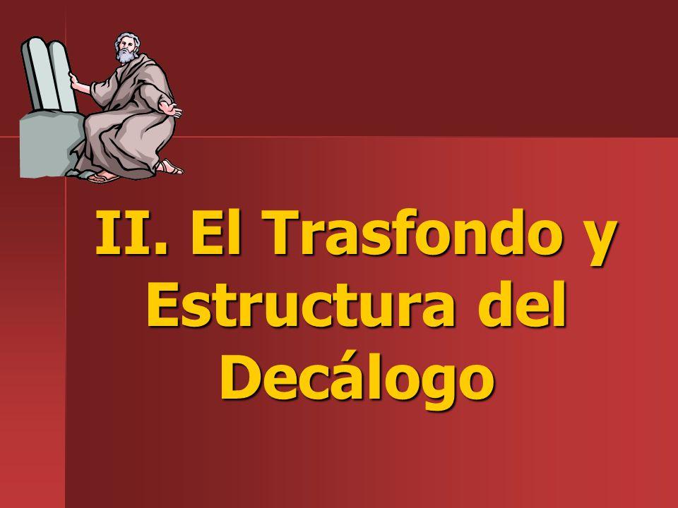 II. El Trasfondo y Estructura del Decálogo